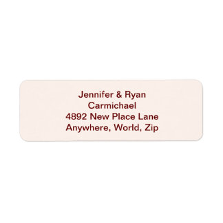 Personalized Bride & Groom Return Address Labels