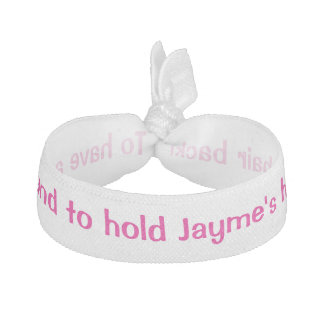 Personalized Bride's name Bachelorette Hair Ties