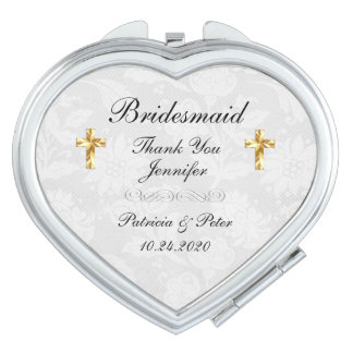Personalized Bridesmaid Cross Mirror For Makeup
