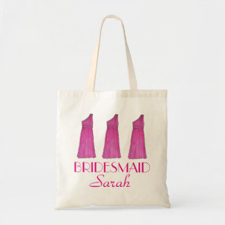 Personalized Bridesmaid Dress Bridal Party Tote