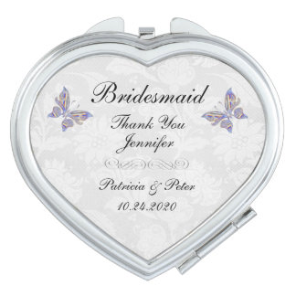 Personalized Bridesmaid Heart Compact Mirror