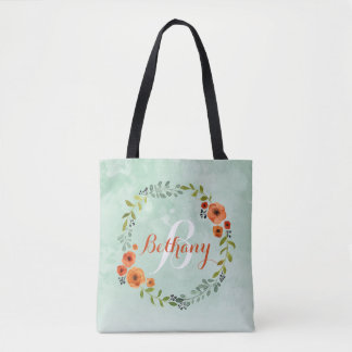 Personalized Bridesmaid Tote Bag | Dainty Blossom