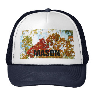 Personalized Bright Autumn Tree Leaves Photo Trucker Hat