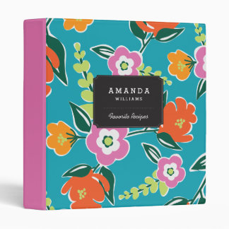 Personalized | Bright Blooms Vinyl Binders