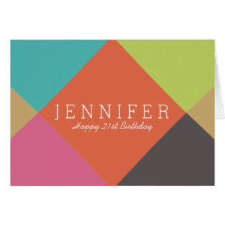 Personalized | Bright Diamonds Birthday Card