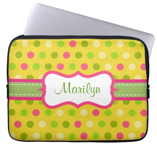 Personalized Bright Dot Laptop Case