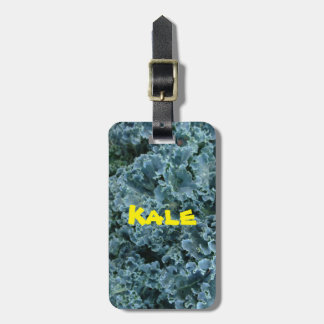 Personalized Bright Green Earth Day Vegan Kale Luggage Tag