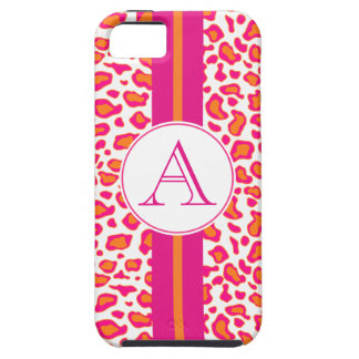 Personalized Bright Orange Leopard  iPhone 5 Case