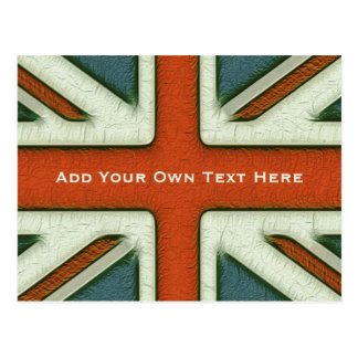 Personalized British Flag Post Cards