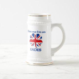Personalized British Kiss Me I'm Eades Coffee Mugs