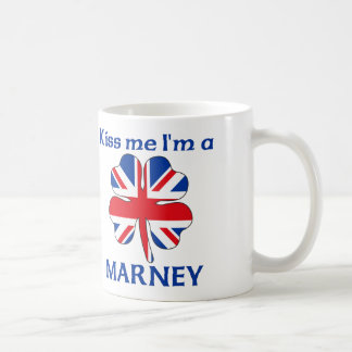 Personalized British Kiss Me I'm Marney Classic White Coffee Mug