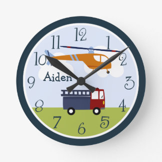 Personalized Brody Transportation Kids Clock