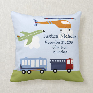 Personalized Brody Transportation Pillow Keepsake