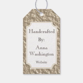 Personalized Bronze Handcrafted Tag Pack Of Gift Tags