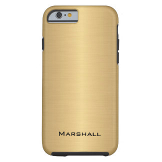 Personalized Brushed Faux Gold Effect Tough iPhone 6 Case
