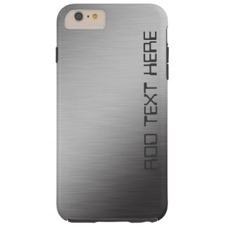 Personalized Brushed Metal Tough iPhone 6 Plus Case
