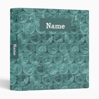 Personalized bubble wrap binder