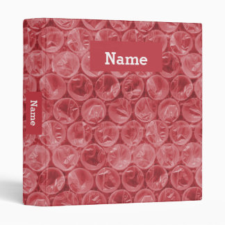 Personalized bubble wrap vinyl binders