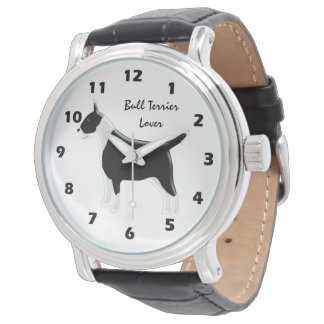 Personalized Bull Terrier Dog Design Watch