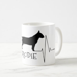 Personalized Bull Terrier Love My Dog Heart Beat Coffee Mug
