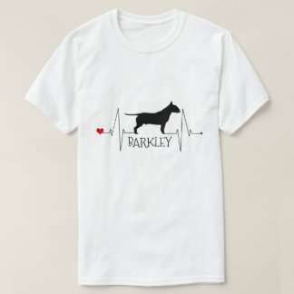 Personalized Bull Terrier Love My Dog Heart Beat T-Shirt