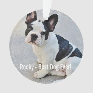Personalized Bulldog Photo and Bulldog Name Ornament