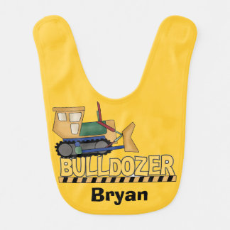 Personalized Bulldozer Bib