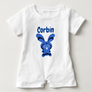 Personalized Bunny Baby boy one piece Baby Romper