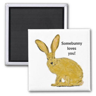 Personalized Bunny Rabbit Magnet