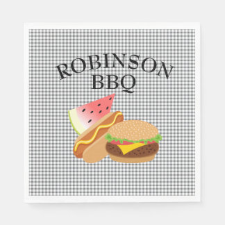 Personalized Burger, Hotdog, & Watermelon Napkins Disposable Napkin
