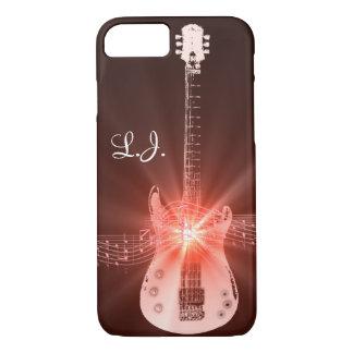 Personalized Burning Guitar Theme Design iPhone 7 Case