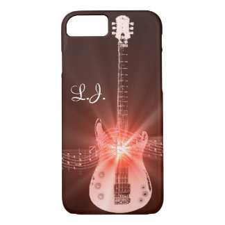 Personalized Burning Guitar Theme Design iPhone 8/7 Case