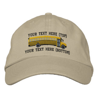 Personalized Bus Driver School Bus Embroidery Embroidered Hat