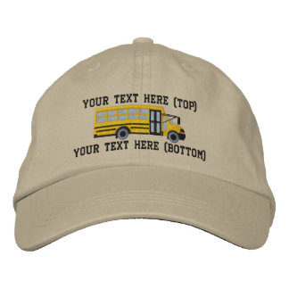 Personalized Bus Driver School Mini Bus Embroidery Embroidered Hat
