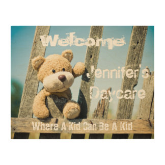 Personalized Business Rustic Welcome Sign Wood Canvases