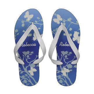 Personalized Butterflies summer evening Sandals