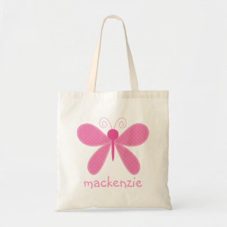 Personalized Butterfly Bookbag Tote Bag