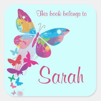 Personalized Butterfly Bookplate Sticker