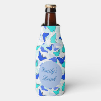 Personalized Butterfly Can or Bottle Cooler
