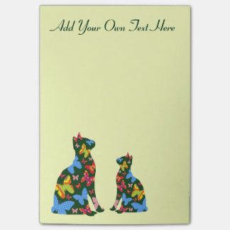 Personalized Butterfly Cat Post-It-Notes - Green Post-it Notes