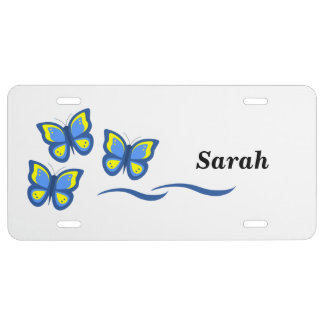 Personalized Butterfly License Plates