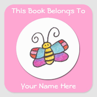 Personalized Butterfly Sticker