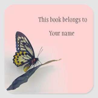 Personalized Butterfly Sticker Bookplate