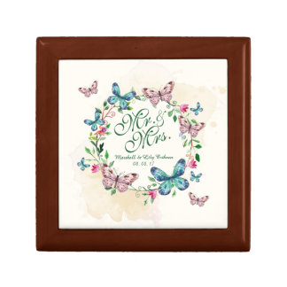 Personalized Butterfly Wreath Gift Box