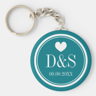 Personalized button keychains for newlywed couples