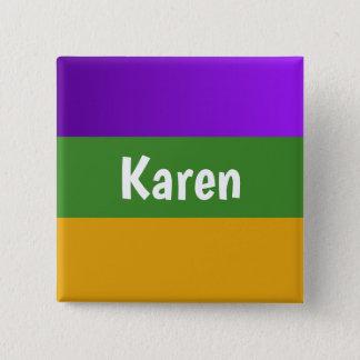 Personalized button Mardi Gras