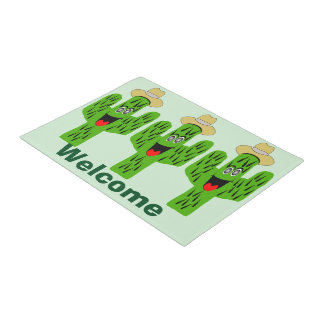 Personalized Cactus Design Doormat
