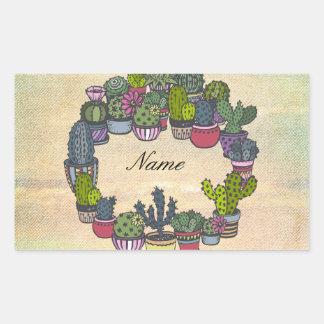Personalized Cactus Wreath