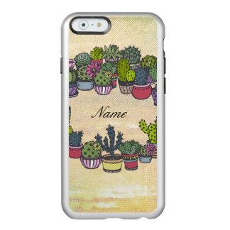 Personalized Cactus Wreath Incipio Feather® Shine iPhone 6 Case
