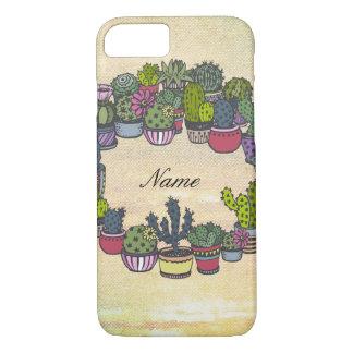 Personalized Cactus Wreath iPhone 8/7 Case